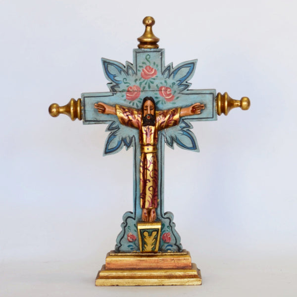 Joaquin Garnica - Carved Wood Crucifixion