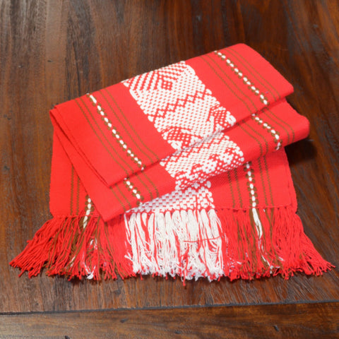 Textiles - Santo Tomas Runner in Red, White and Brown