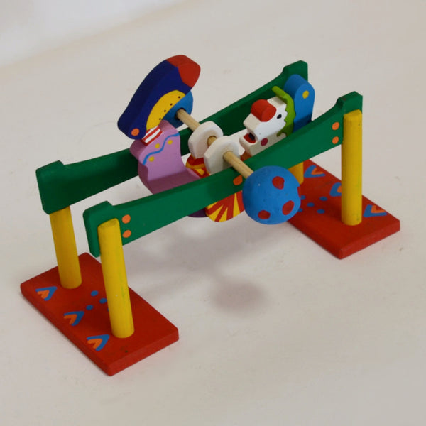 Toys - Hand Carved Rotating Clown