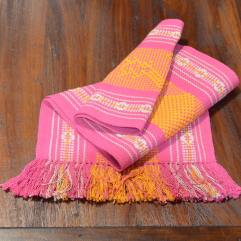 Textiles - Santo Tomas Runner in Pink, Gold and Gray