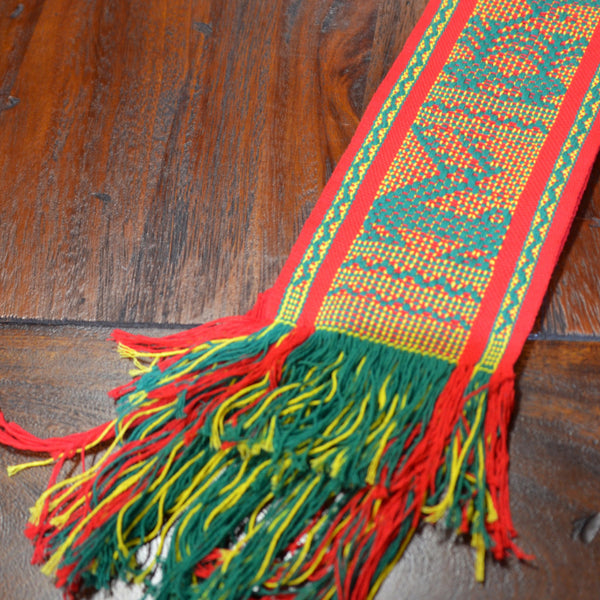 Textiles - Santo Tomas Belt in Red and Green