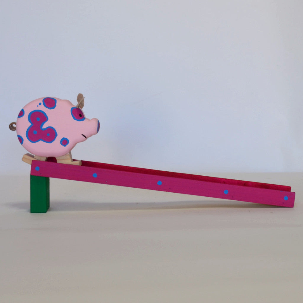 Toys - Hand Crafted Ramp with Pig