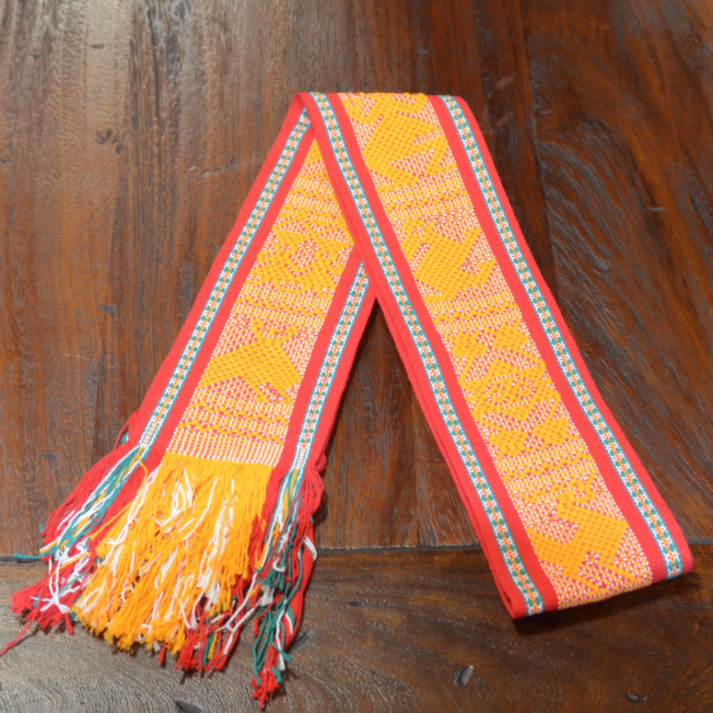 Textiles - Santo Tomas Belt in Yellow, Red and Green