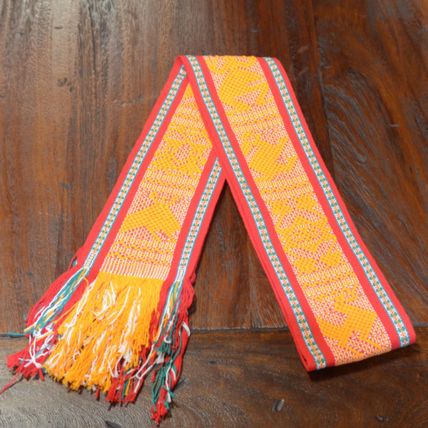 Textiles Santo Tomas Belt In Yellow Red And Green