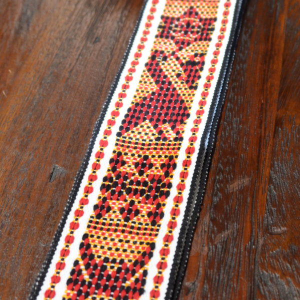 Textiles - Santo Tomas Belt in Black, Red and Gold