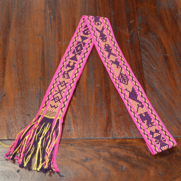Textiles - Santo Tomas Belt in Pink, Purple and Yellow