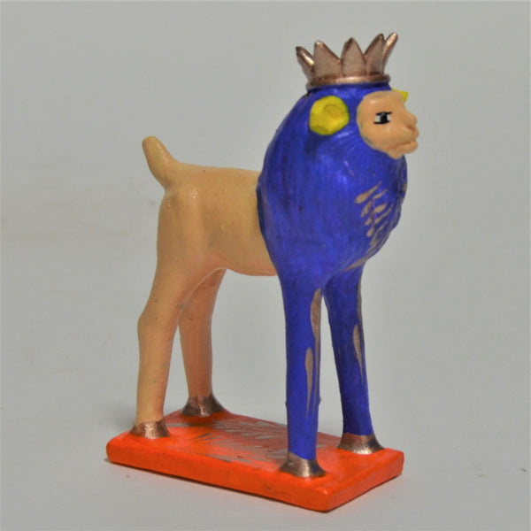 Javier Ramirez - Small Hand Crafted Folk Art Crowned Sheep
