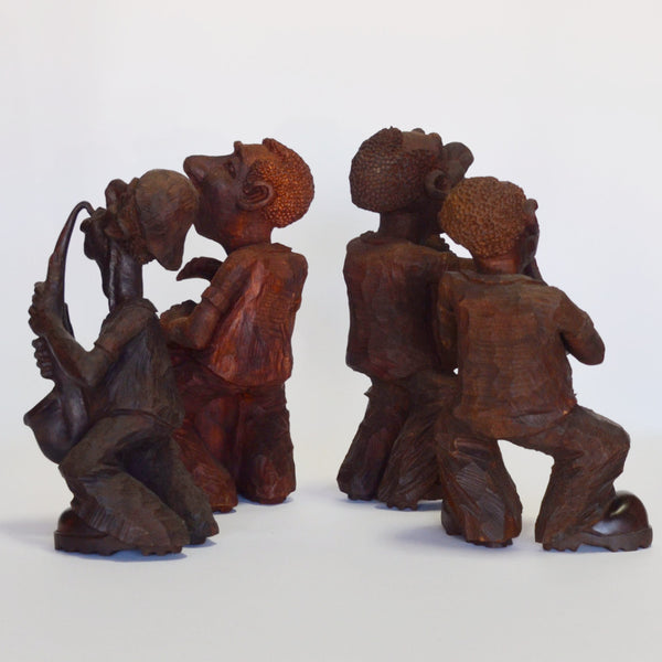 Wood - Cuban Hand Carved Quartet