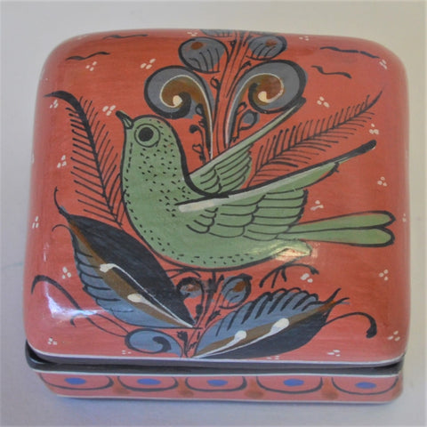 Joaquin Garnica - Hand Carved Heart with Roses in Coral