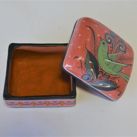 Joaquin Garnica - Hand Carved Heart with Roses in Red