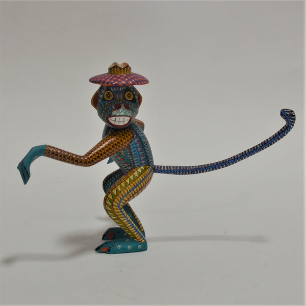Joaquin Hernandez - Oaxacan Hand Carved Multi Color Monkey