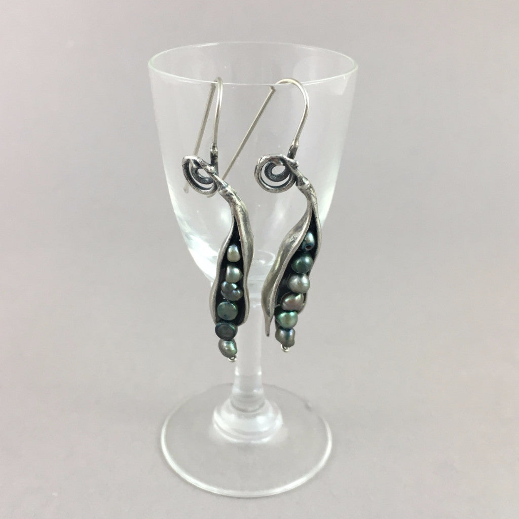 Jewelry - Mexican Silver Earrings with Fresh Water Pearls