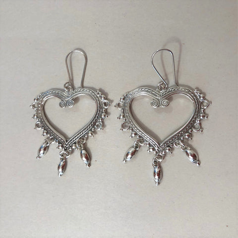 Jewelry - Open Heart .95 Mexican Silver Earrings