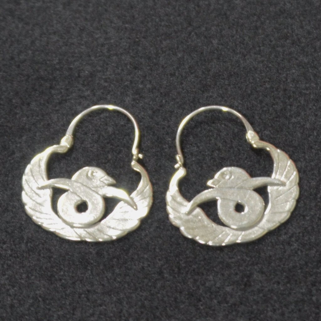 Jewelry - Hand Crafted Mexican Silver Arracada Earrings with Birds