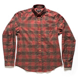 Red plaid shirt made in NY Japanese fabric