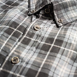 grey plaid shirt made in USA Japanese Fabric