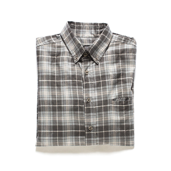 All Year Plaid Button Down - Grey
