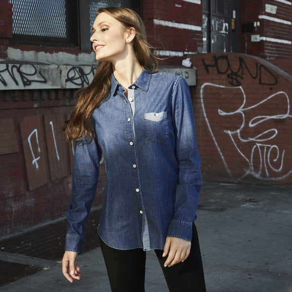 Milano Denim Button Down - Women's