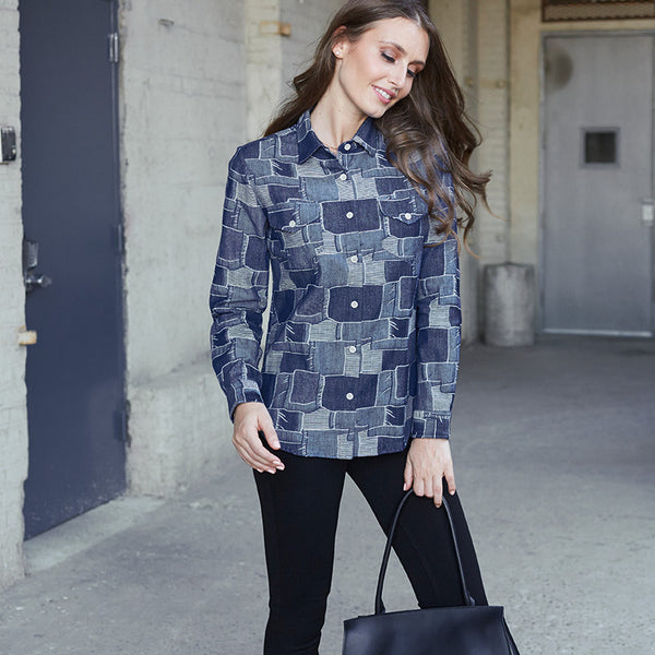Boro Denim Shirt Woman - Bridgenboro