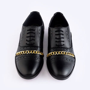 Identity Horsebit Lace-ups - Black