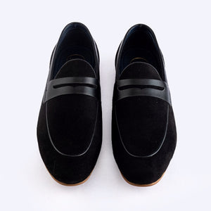 Identity Suede Loafers - Black