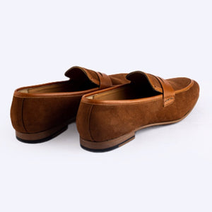 Identity Suede Loafers - Tan