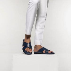 Voss Cross Strap Flipflop - Blue