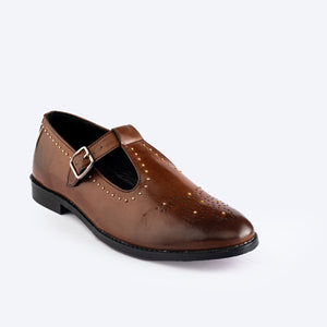 Identity Open Side Slip-ons - Brown
