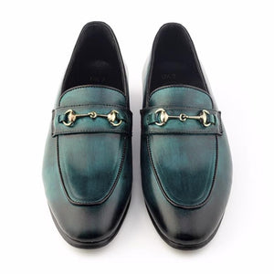 Patina + Art Horsebit Slip-on - Green
