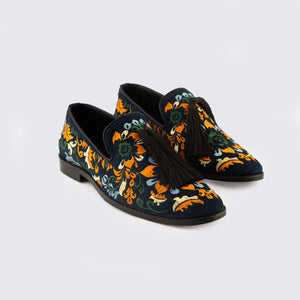 Identity Floral Slip-ons - Blue