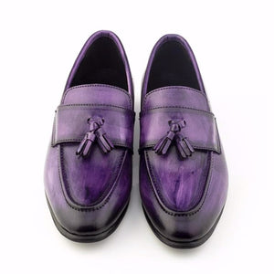 Patina + Art Tassel Slip-on - Violet