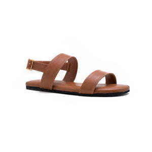 Rabat Buckle Sandals - Tan