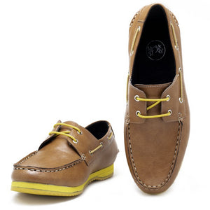 Napa Boat Shoes - Tan/Yellow