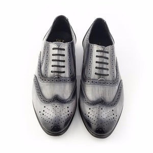 Patina + Art Oxford Lace-Ups - Grey