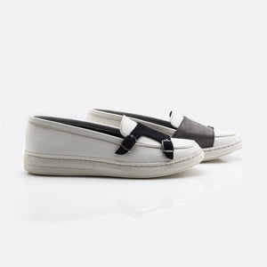 Alter-Ego Double Monk Sneakers - White