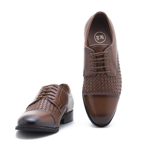Vardo Captoe Oxford Shoe - Tan