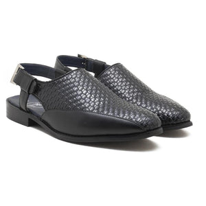 Avola Braided Sandals - Black