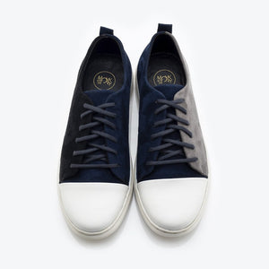Alter-Ego Velvet Lace Sneakers - Blue