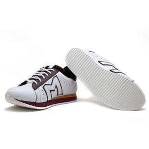 """M""  Monkstory Iconic sneakers - White/Burgundy"