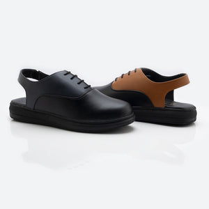 Alter-Ego Sling Back Sneakers - Black