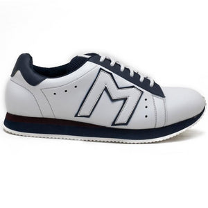 """M""  Monkstory Iconic Trainers - White/Blue"