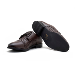 Vardo Captoe Oxford Shoe - Brown