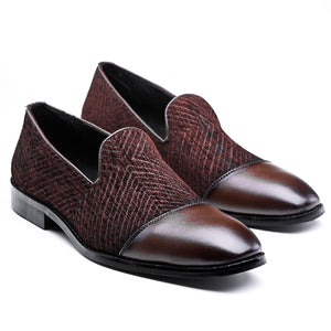 Bruges Double Monk Slip Ons - Black
