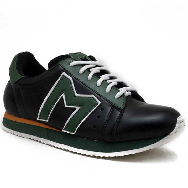 """M""  Monkstory Iconic Trainers - Black/Green"