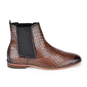 Reboot Croco Chelsea Boots  - Brown