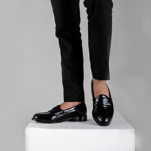 Boise Penny Loafers - Glossy Black