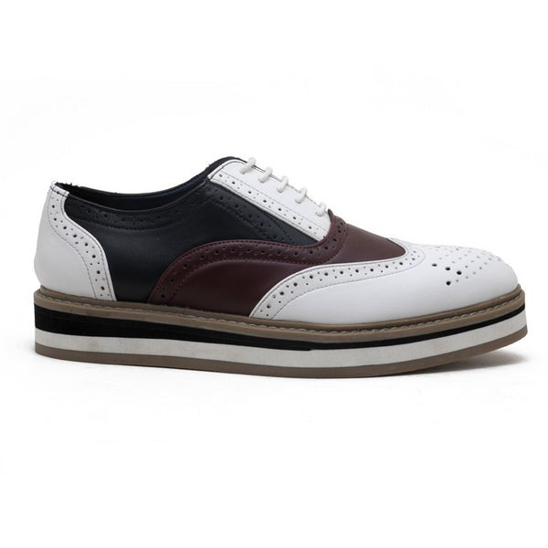 Beverly Tricolour Brogues - White