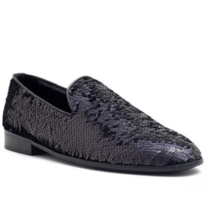 Monaco Colour Changing Sequin Slip-on - Black/Gold