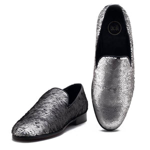 Monaco Colour Changing Sequin Slip-on - Silver/Black