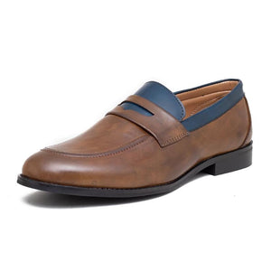Urbino Penny Loafers - Brown/Blue